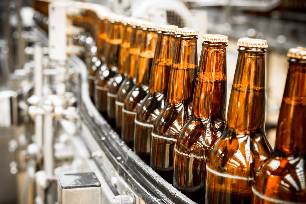 chaîne d'embouteillage de bière