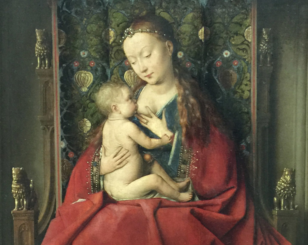The Madonna of Lucca by Jan Van Eyck