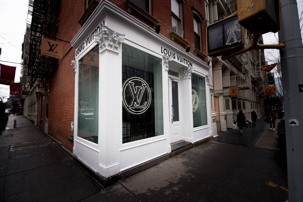 Vuitton pop-up store in Soho (winter 2018)