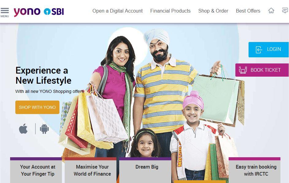 YONO sbi homepage
